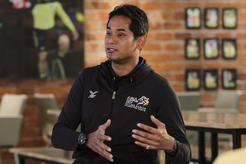 Youths and Sports Minister Khairy Jamaluddin speaks to Malay Mail Online during an interview at Majlis Sukan Negara in Bukit Jalil. — Picture by Yusof Mat Isa