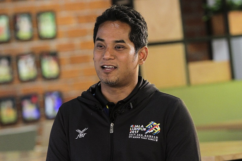 Youths and Sports Minister Khairy Jamaluddin speaks to Malay Mail Online during an interview at Majlis Sukan Negara in Bukit Jalil June 1, 2017. — Picture by Yusof Mat Isa