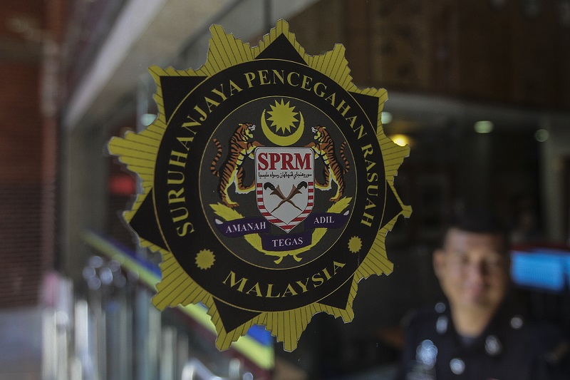 MACC officers are investigating the flow of the funds over a seven year period, via an intricate web of companies. — Picture by Yusof Mat Isa