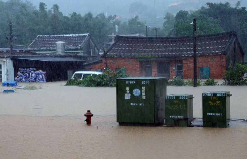 Taiwan is frequently hit by typhoons in the summer. — AFP pic
