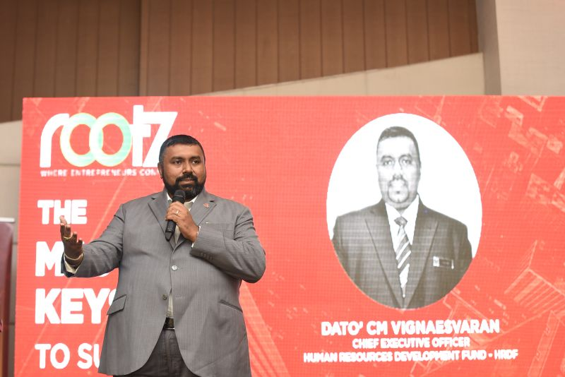To prepare for Industry 4.0, Datuk CM Vignaesvaran Jeyandran said employers should not hold back on investing in their staff. ― Picture courtesy of HRDF