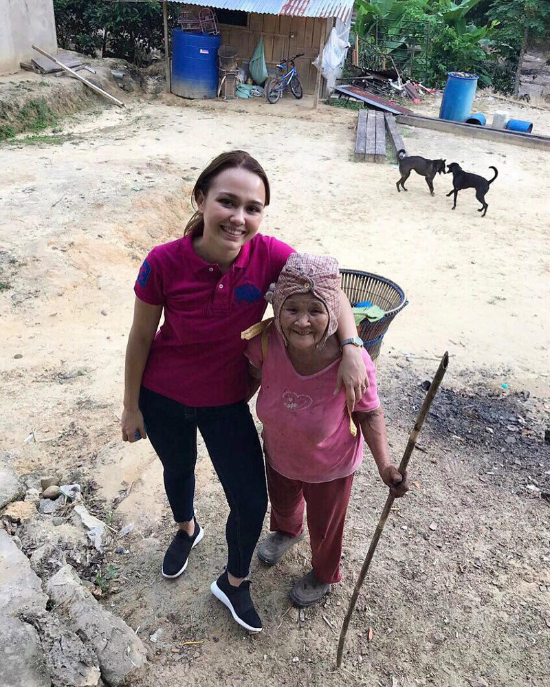 Jo-Anna Sue Henley Rampas spending time in her hometown of Kiulu. — Picture courtesy of Jo-Anna Sue Henley Rampas
