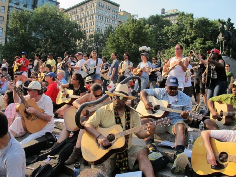 Mass Appeal Guitars, part of Make Music New York on June 21, 2012. — AFP pic