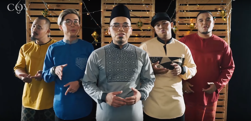 The Malaysian a capella group have released another insanely catchy cover of Raya songs. — Screengrab from YouTube