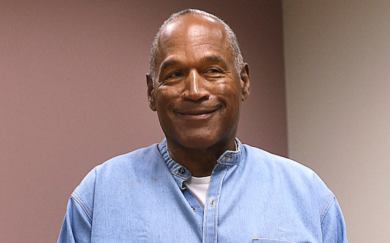 OJ Simpson arrives for his parole hearing at Lovelock Correctional Centre in Lovelock, Nevada, July 20, 2017. — Reuters pic