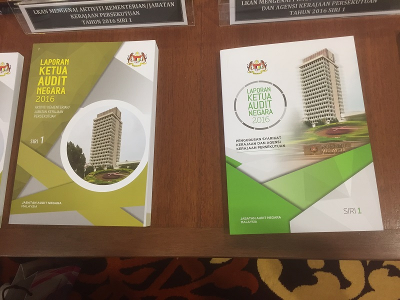 The first series of the Auditor-General's Report 2016 was tabled in Parliament on July 31, 2017. — Picture by Kamles Kumar