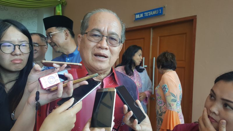 Sarawak Deputy Chief Minister Datuk Amar Douglas Uggah Embas announced a state government grant of RM1 million for the state's ex-servicemen association. ― File picture by Sulok Tawie