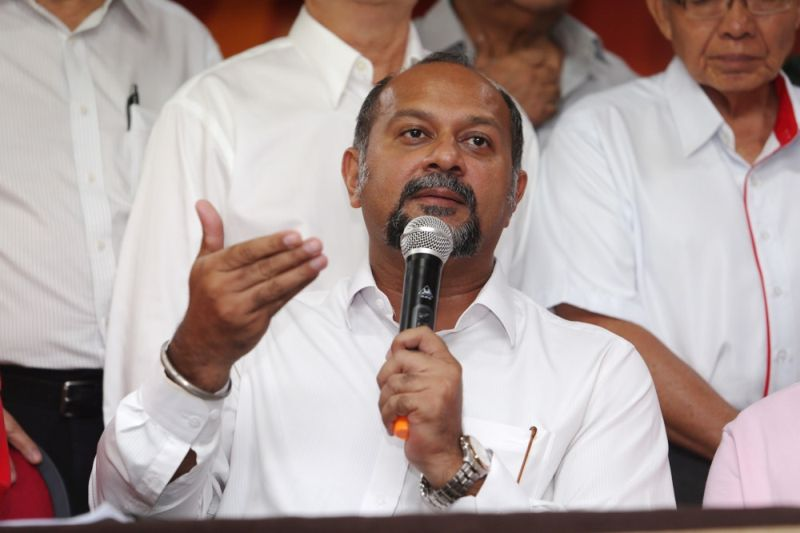 DAP's Puchong MP Gobind Singh Deo, whose question on the status of investigations on 1MDB and the SRC International Sdn Bhd cases and the action to be taken was turned down, said that the Speaker's role should be reviewed. — Picture by Choo Choy May