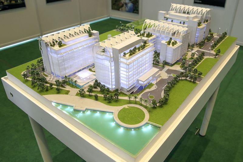 A model of the Putrajaya Islamic Complex.
