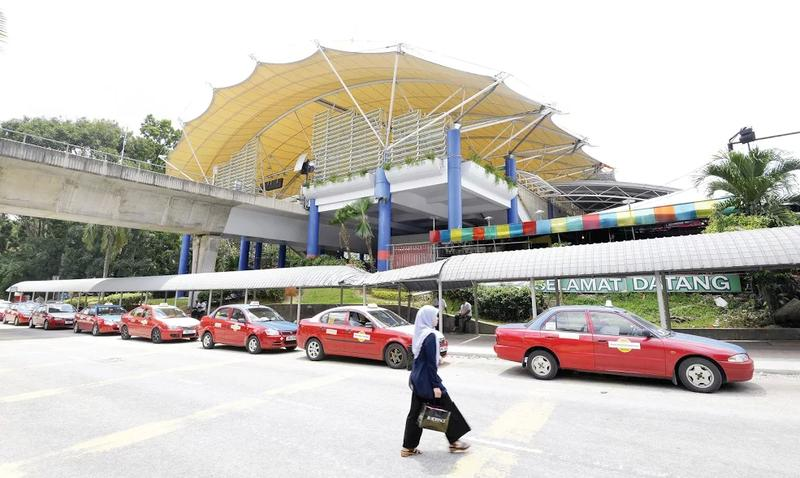 Outside the station.  — Malay Mail pic