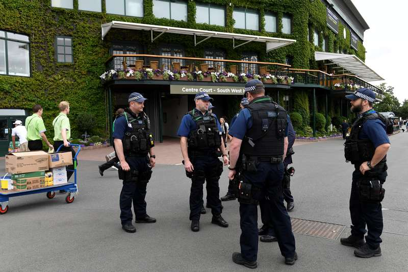 Police presence in London is very much obvious these days after a recent spate of attacks in public areas. — Reuters pic