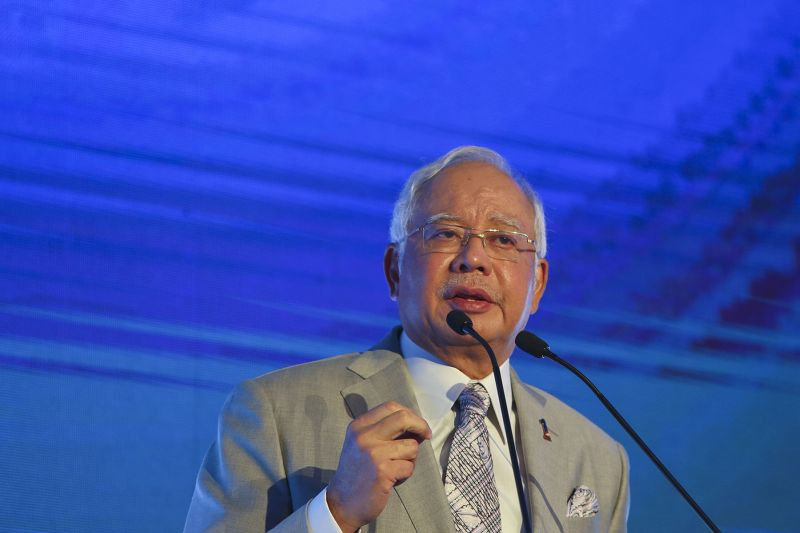 Datuk Seri Najib Razak delivers his speech during the Invest Malaysia 2017 event at Shangri-La Hotel in Kuala Lumpur, July 25, 2017. ― Picture by Yusof Mat Isa