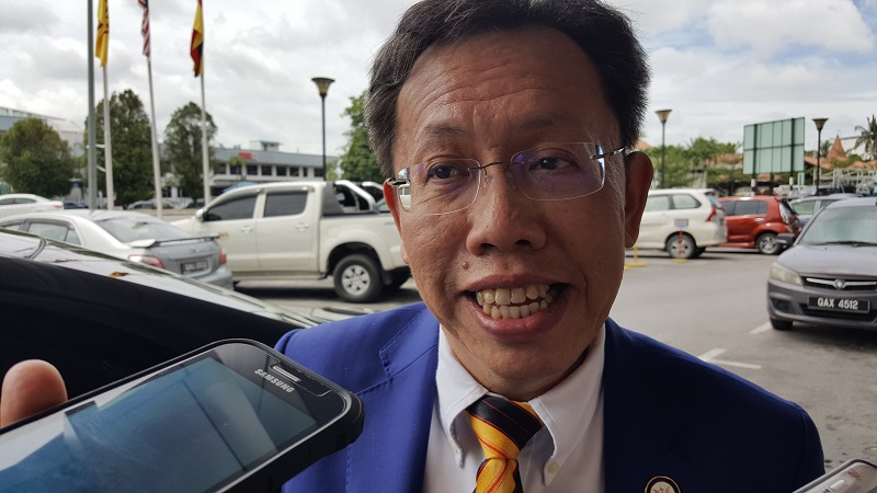 State Local Government and Housing Minister Datuk Seri Dr Sim Kui Hian today appealed to about 500 Sarawakians who attended an international religious event at Seri Petaling Mosque in Selangor from February 27 to March 1 to be tested for Covid-19. — Picture by Sulok Tawie