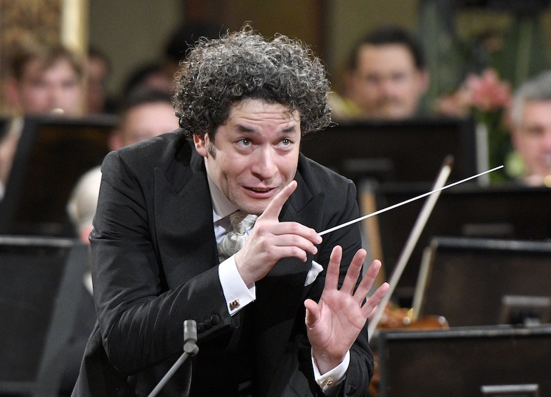 This file photo taken on December 31, 2016 shows Venezulean conductor Gustavo Dudamel conducting the traditional New Year's Concert 2017 with the Vienna Philharmonic Orchestra at the Vienna Musikverein in Vienna. — AFP pic