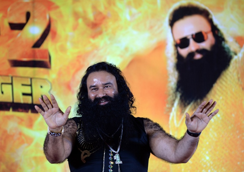 In 2017 Gurmeet Ram Rahim Singh was convicted of raping two of his disciples, prompting riots by tens of thousands of people in several Indian states that left 40 people dead. — AFP pic
