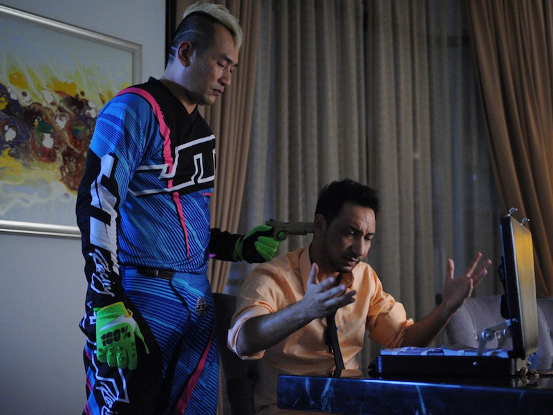 A screengrab from 'Abang Long Fadil 2' that stars Zizan Razak and Datuk AC Mizal. — CinemaOnline pic