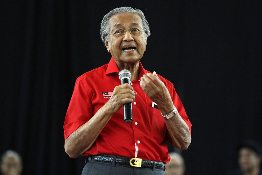 Tun Dr Mahathir Mohammad giving a speech during the Nothing 2 Hide 2.0 Forum at Raja Muda Musa Hall Shah Alam August 13, 2017 . — Picture by Miera Zulyana