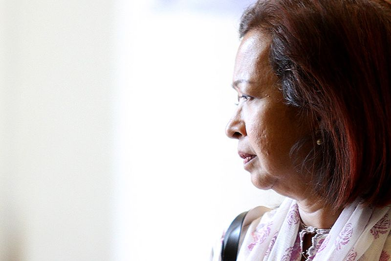 Datin Paduka Marina Mahathir was among the number of prominent social activists present at the news conference.