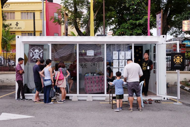 Monkey Tattoo Studio was one of the vendors at George Town Festival's Macam-Macam Asean event last weekend. — Picture by KE Ooi