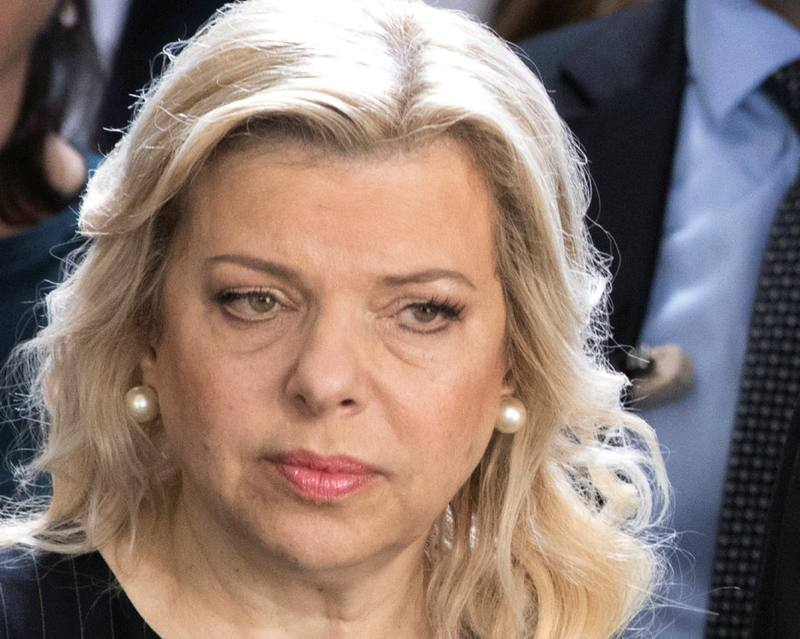 Israeli Prime Minister's wife Sara Netanyahu at a ceremony in Paris July 16, 2017. — Reuters pic