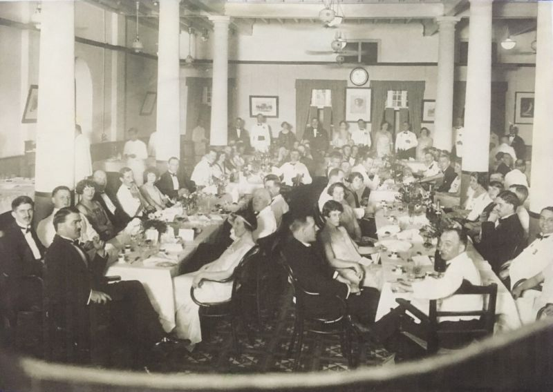 Rev RD Whitehorn is seen here at the head of the table at a 1925 fundraising event for the manse, with his wife seated facing him. ― Picture courtesy of St Andrew's Presbyterian Church