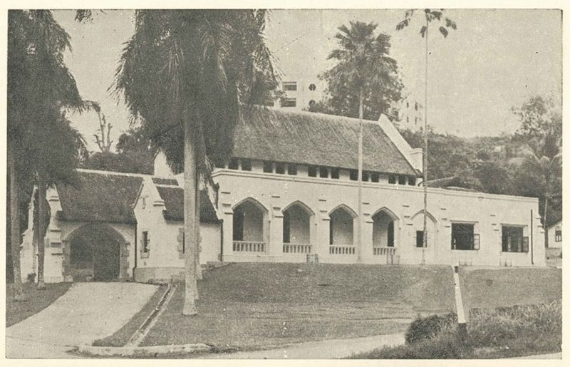 A side-view of the St Andrew's church building as seen in 1955 shows its structure remaining intact despite the Japanese occupation of Malaya. ― Picture courtesy of St Andrew's Presbyterian Church