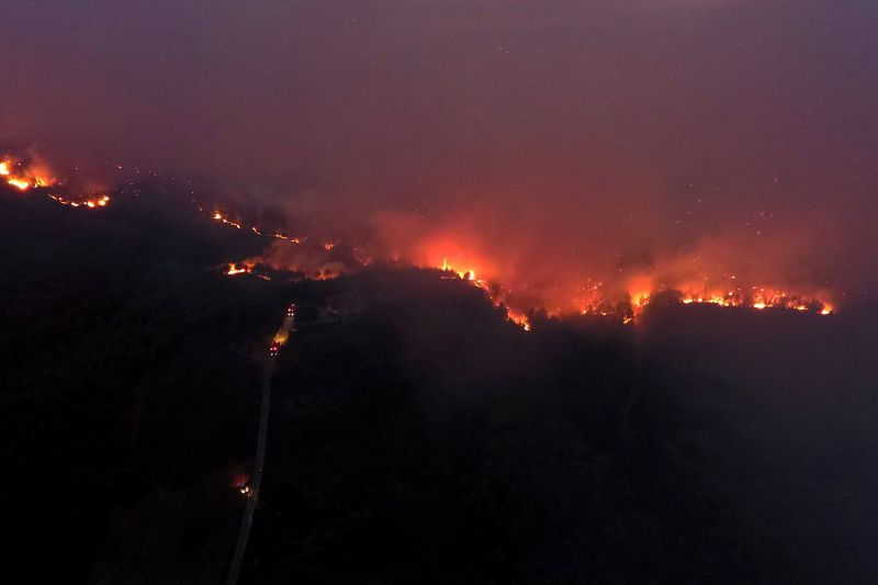 WIldfires are not uncommon in Greece, being a yearly challenge for the country. — Reuters pic