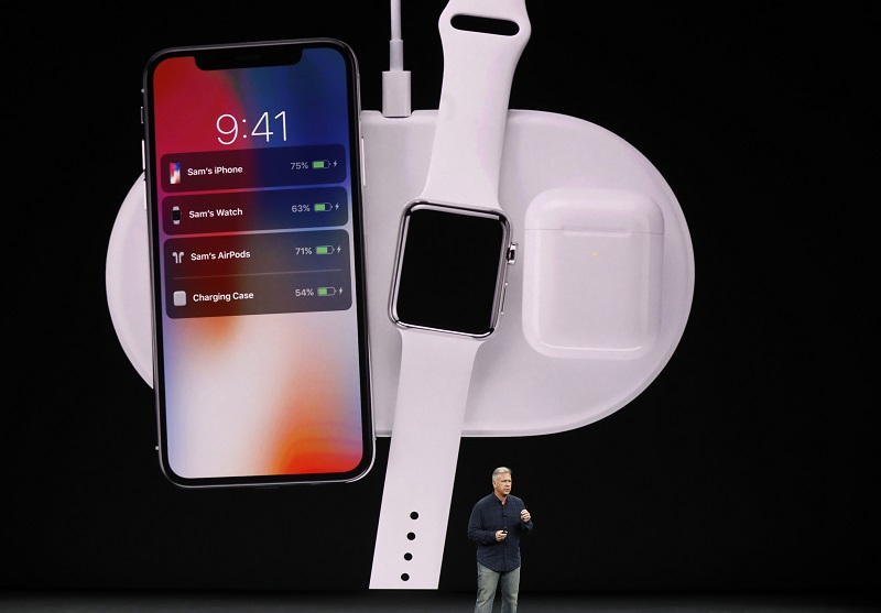 File photo showing Apple Senior Vice President of Worldwide Marketing, Phil Schiller, showing the iPhone X during a launch event in Cupertino, California September 12, 2017. — Reuters pic