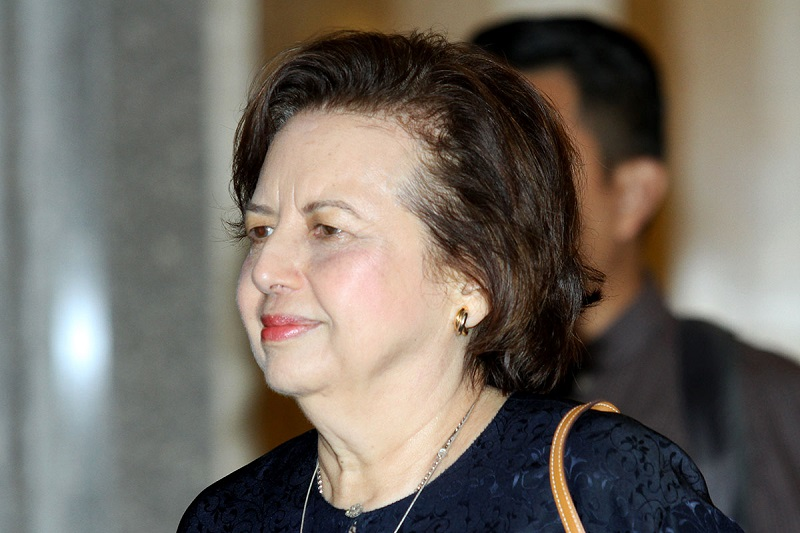 Former governor of Bank Negara Malaysia Tan Sri Zeti Akhtar Aziz (left) has not responded to allegations concerning a company owned by her husband and son. — Picture by Miera Zulyana