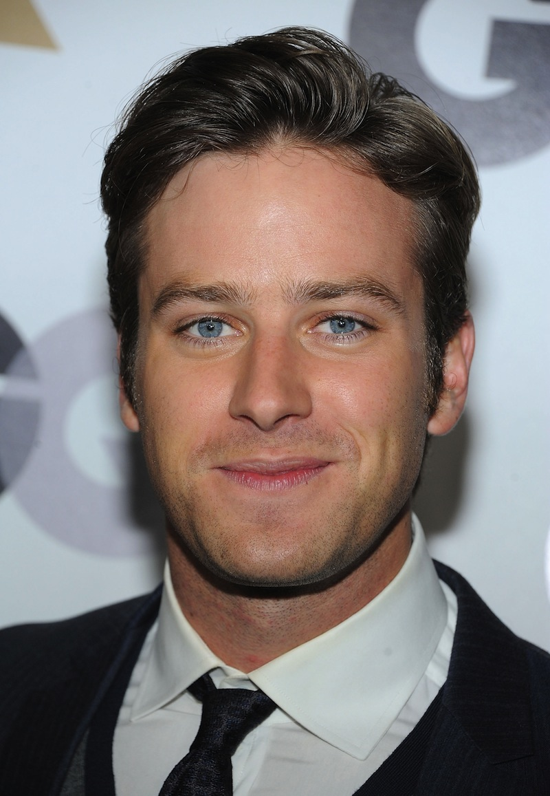 Actor Armie Hammer.— AFP pic