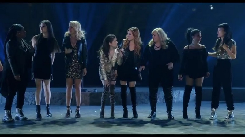 A screengrab from 'Pitch Perfect 3' that stars Anna Kendrick, Rebel Wilson, Hailee Steinfeld, Brittany Snow and Anna Camp among others.