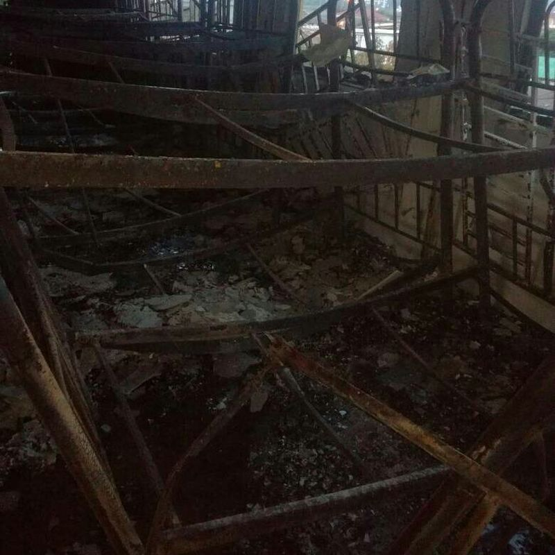 A fire occurred at a tahfiz school at Jalan Keramat Ujung in Kuala Lumpur at 5.41am on Sept 14, 2017. ― Picture via Twitter/bombaJBPM