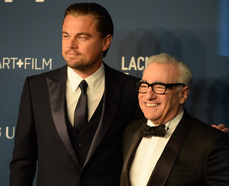 Leonardo DiCaprio and Martin Scorsese at a Los Angeles County Museum of Art event, November 2013. DiCaprio reportedly turned over to American investigators an Oscar won by Marlon Brando gifted to him by movie producers Red Granite in 2017. — AFP pic