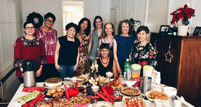 Many of St Andrew's former expatriate members have good memories of their time spent here; some of the church's women are seen here at a Christmas dinner on December 2016. — Picture courtesy of St Andrew's Presbyterian Church