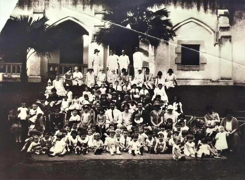 Children who attended St Andrew's Sunday school for Christian education can be seen here in December 1926; but the church's education efforts extended even to far-flung plantations. — Picture courtesy of St Andrew's Presbyterian Church