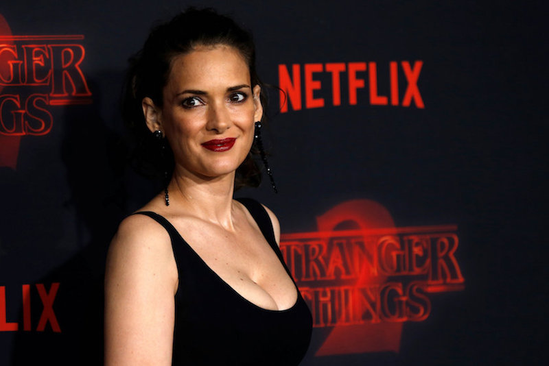 Cast member Winona Ryder poses at the premiere for the second season of the television series 'Stranger Things' in Los Angeles October 27, 2017. — Reuters pic