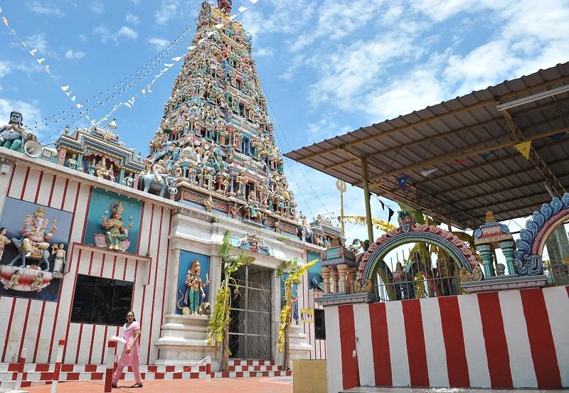The Arulmigu Sri Maha Mariamman Temple.