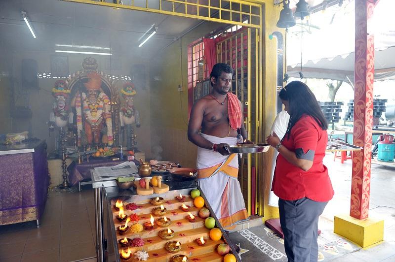 The Sri Patineetam Padi Karuppar Swami Alayam temple.