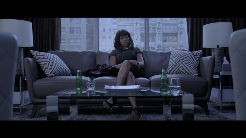 A screengrab from Tyler Perry's dark thriller 'Acrimony' that stars Taraji P. Henson and Lyriq Bent.