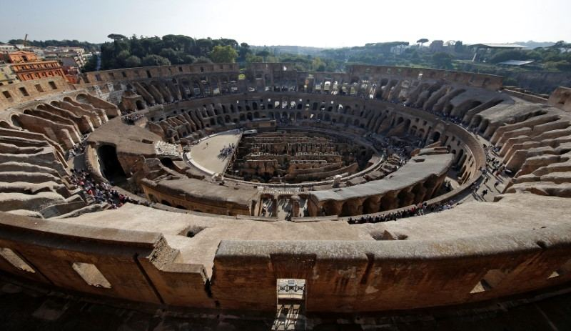 A general view from the top terrace of the Colosseum in Rome October 17, 2017. — Reuters pi