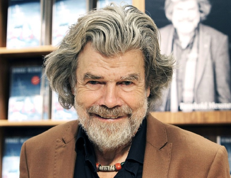 Italian explorer and mountaineer, Reinhold Messner, poses during an interview with AFP journalists during the Frankfurt Book Fair 2017 in Frankfurt am Main, Germany, on October 12, 2017. — AFP pic