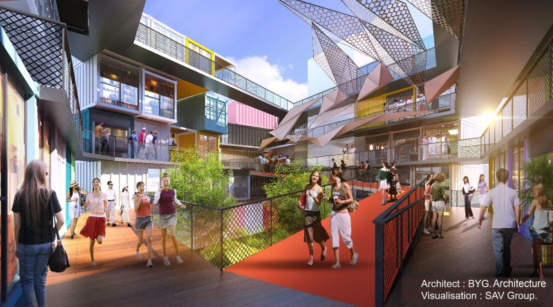 An artist's impression of the Penang Arts District. ― Pictures courtesy of BYG architecture