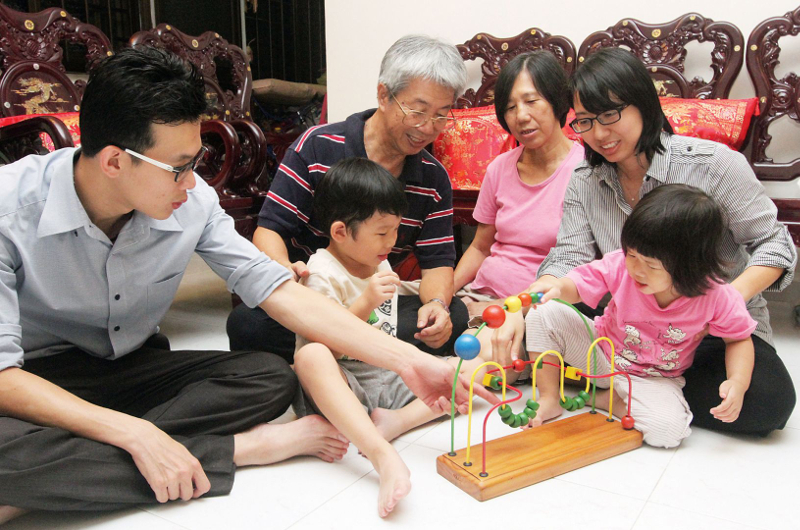 One big advantage of having grandparents being actively involved in children's lives is passing on a sense of belonging to the young ones, experts say. —TODAY pic