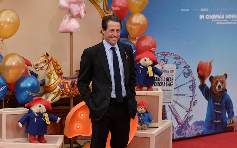 Actor Hugh Grant poses for photographers at the world premiere of 'Paddington2' at the BFI Southbank, in London November 5, 2017. — Reuters pic