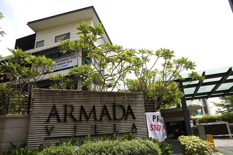 General view of Armanda Villa in Taman Desa, Kuala Lumpur November 18, 2017. — Picture by Choo Choy May