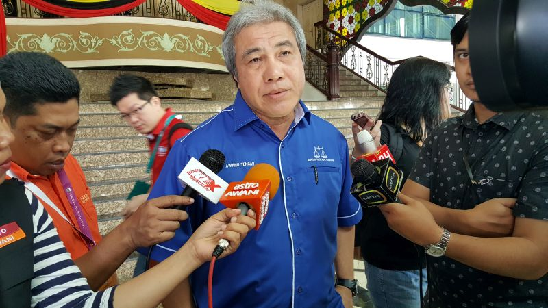 Datuk Amar Awang Tengah Ali Hasan says Sarawak will enforce mandatory certification for timber concessions by 2022. ― Picture by Sulok Tawie