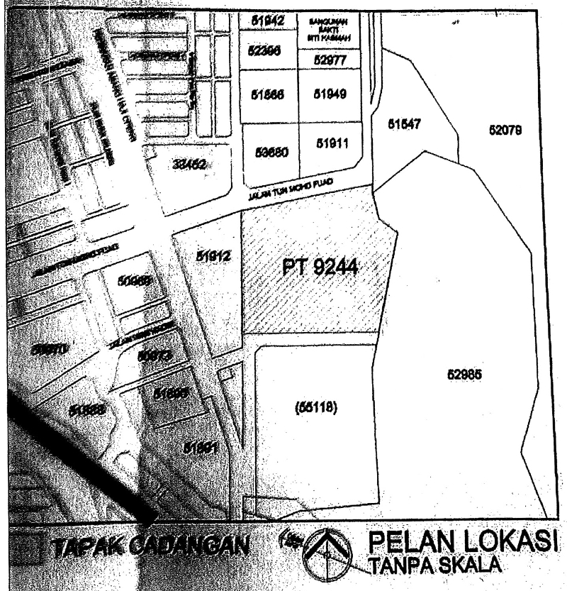 TTDI residents say Taman Rimba Kiara land was halved, with the portion for the high-rise project given the land title of PT9244. — Picture courtesy of Save Taman Rimba Kiara