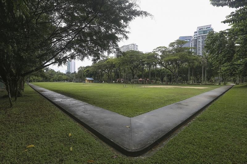 A general view of Taman Rimba Kiara in Taman Tun Dr Ismail, Kuala Lumpur. — Picture by Yusof Mat Isa