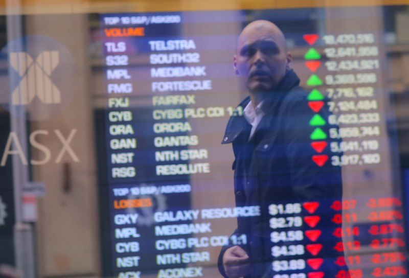 Today's trading mood is less positive with Australia's ASX 200 down 0.5 per cent. — Reuters pic
