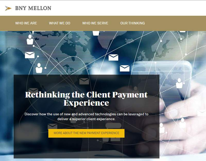 Screengrab from the Bank of New York Mellon website.